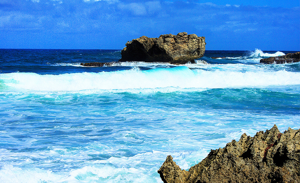 THE RUGGED EASTERN COAST OF BARBADOS